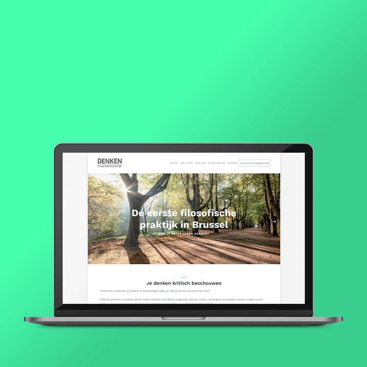 Denken eenvoudige website